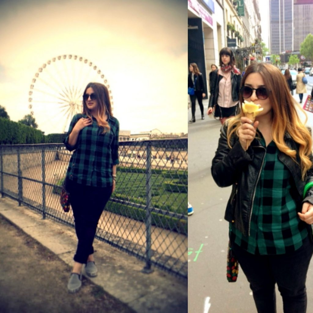 GREEN-BLACK CHECKED SHIRT