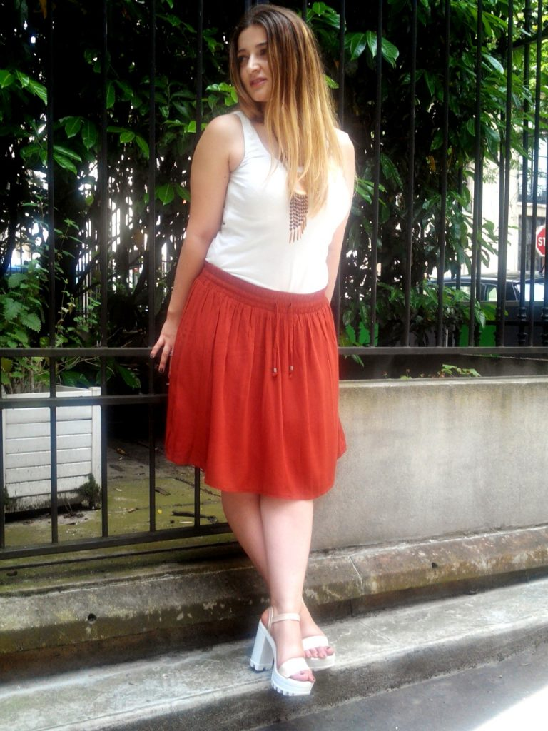 BRICK ORANGE SKIRT