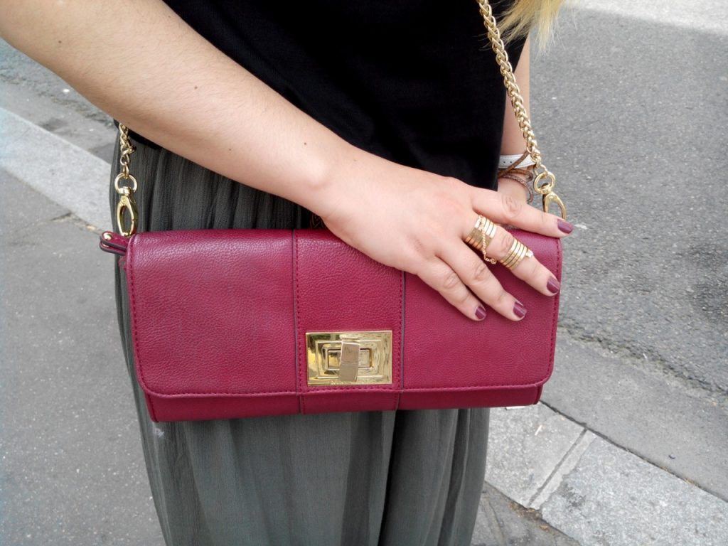NINEWEST DARK RED PURSE