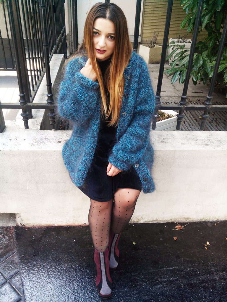 VINTAGE KNITTED COAT