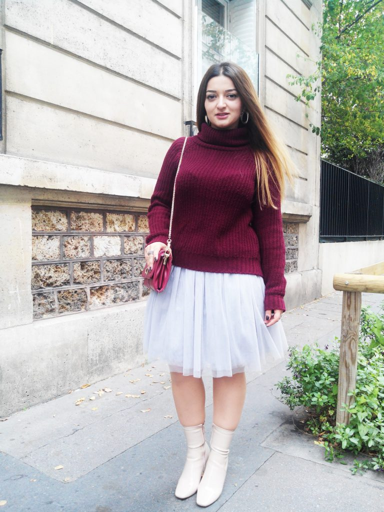 HOW TO WEAR A TUTU SKIRT IN AUTUMN