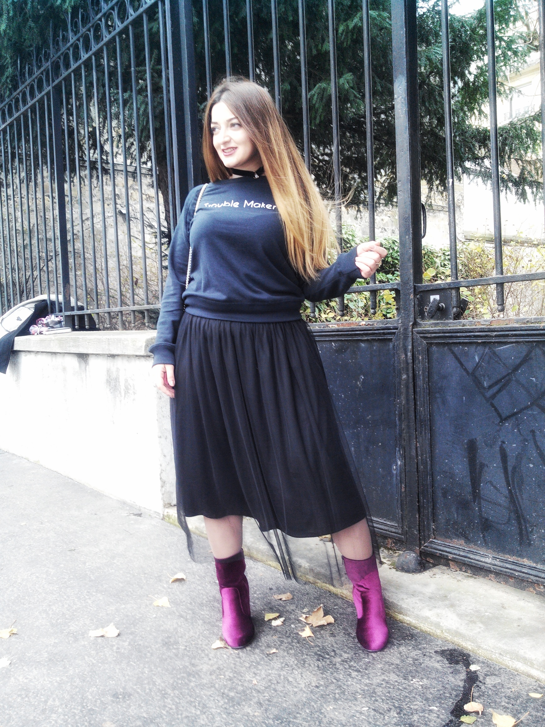 how to wear a tulle skirt in winter